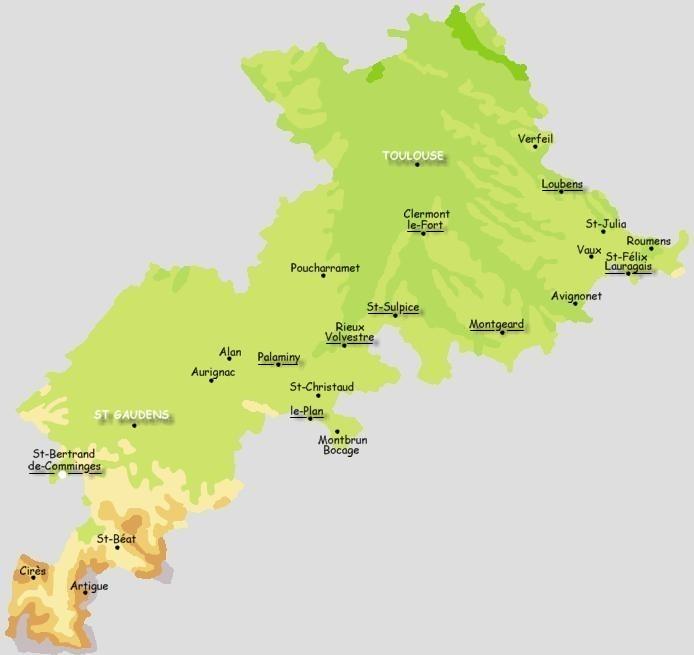 Les plus beaux villages de france for 31 haute garonne carte