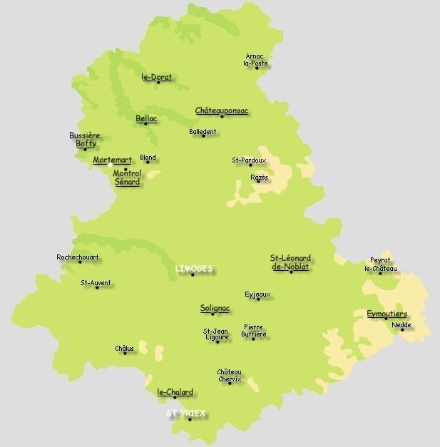 Les plus beaux villages de france for Haute vienne carte